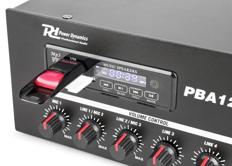 POWER DYNAMICS PBA120 Versterker 120W 240V, 24V EN 12V accu