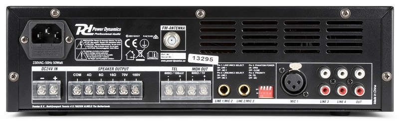 POWER DYNAMICS PBA120 Versterker 120W op  240V en 24V