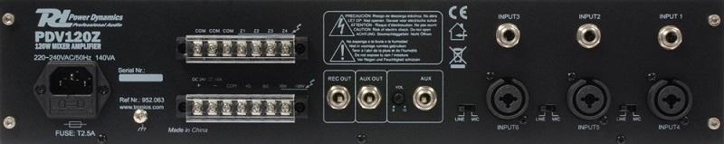 POWER DYNAMICS PDV120Z 120W/100V 4-ZONE VERSTERKER