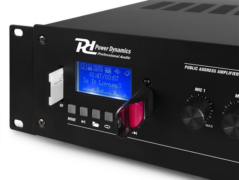 POWER DYNAMICS PRM120 100V 6-CH MIXER-VERSTERKER 120W