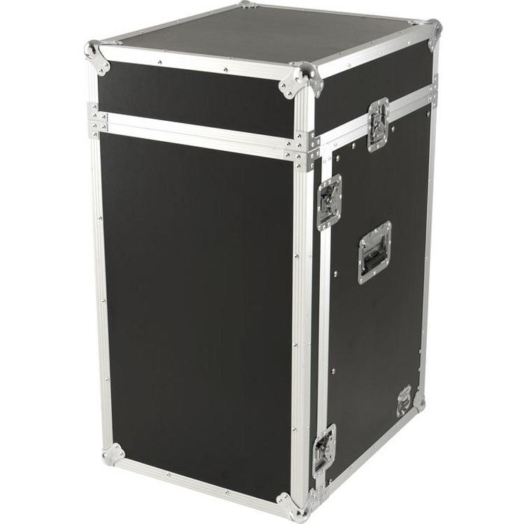ROAD READY 11u slante rack / 16 unit verticaal rack
