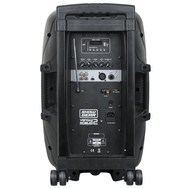 SHOWGEAR Venga 12 Mobile Actieve speaker draadloze microfoon