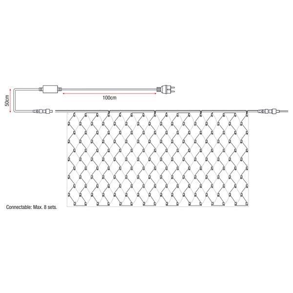 SHOWTEC LED Net Light WW - 176 LEDs - 2 x 1 meter