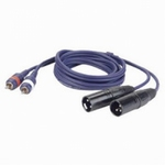 DAP FL26 Signaalkabel 2x Tulp Male - 2x XLR Male