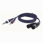 DAP FL44 Signaalkabel 2x Mono Jack - 2x XLR Male