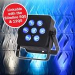 LEDJ Slimline 7Q5 RGBW par 7x 5W in zwarte behuizing