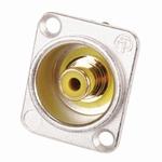 Neutrik RCA/TULP chassisdeel GEEL