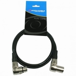 Accu Cable haakse XLR - XLR kabel 3 meter