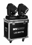 INVOLIGHT LED MH77B 75 Watt LED Beam Movinghead set + case