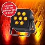LEDJ Slimline 7Q5 RGBA par 7x 5W in zwarte behuizing