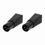 LEDJ DMX XLR male 3 pin naar RJ45 verloop (2x)