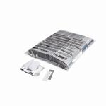 MAGIC FX Confetti Papier 55x17mm - Wit/Zilver (zak 1 kg.)
