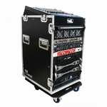 ROAD READY 12u slant mixer rack / 16u verticaal rack