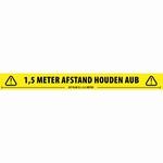 ADAM HALL 58067DUT Tape Social Distance - Nederlandse Tekst