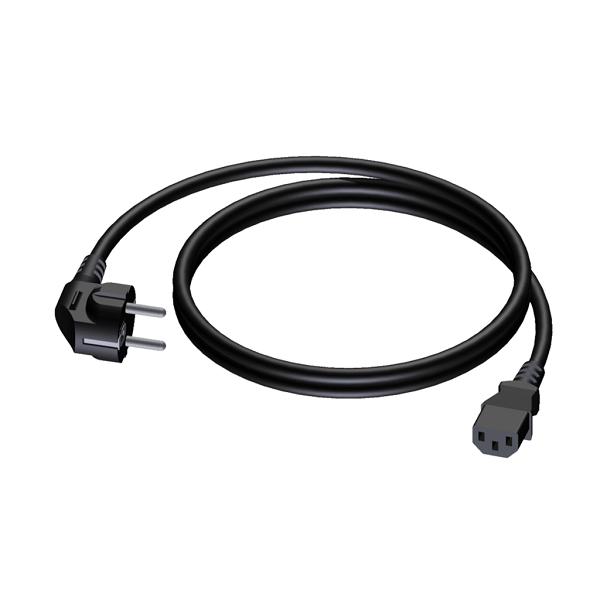 PROCAB CAB490/1 Power cable Schuko Male - Euro Female 1m