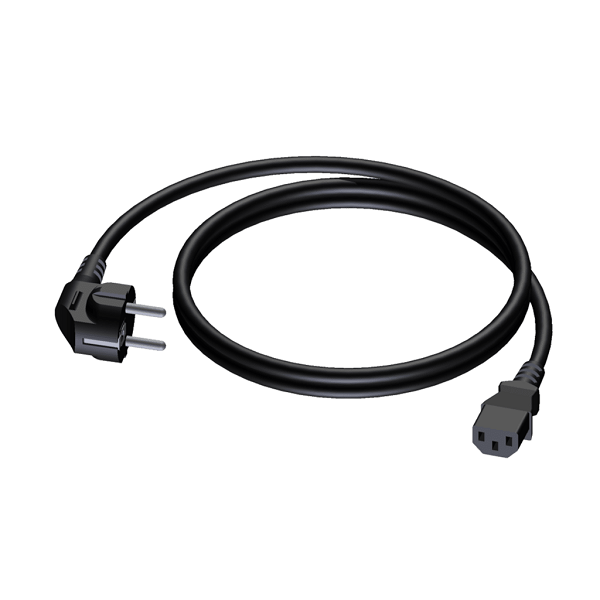 PROCAB CAB490/0-5 Power cable Schuko Male - Euro Female 0,5m